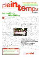 Plein Temps - janvier 2017 - Les retraité-e-s revendiquent un statut.