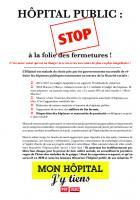 Tract : hôpital public, stop à la folie des fermetures