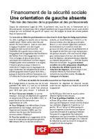 TRACT - Financement de la sécurité sociale - Une orientation de gauche absente