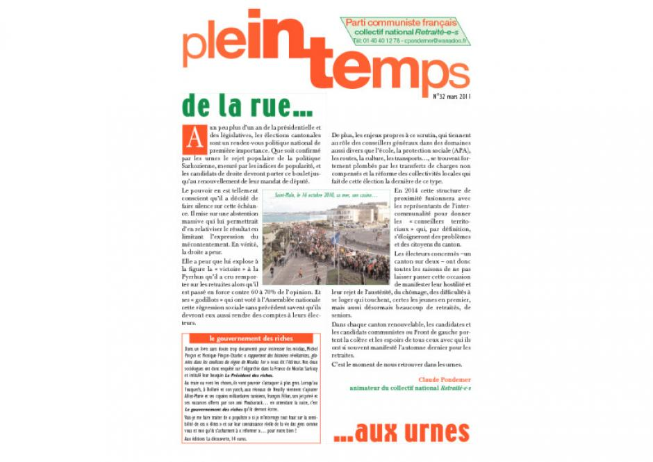 Plein Temps - mars 2011