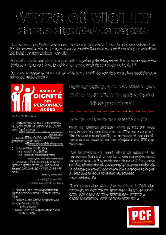 Tract : les personnels des EHPAD ont raison de se mobiliser !